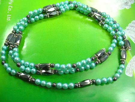 Therapy jewelry magnetic hematite wrap wholesale in multi aqua and black rhine stones