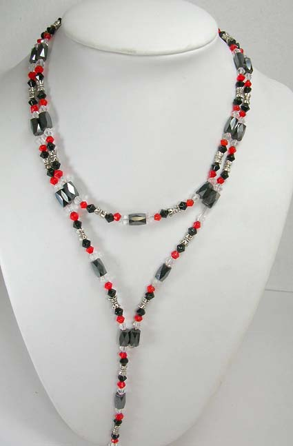 Wholesale healing gemstone hematite jewelry supply magnetic hematite wrap in combination of red, clear, black and silver beads